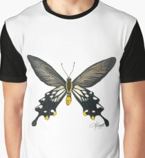 Losaria coon Butterfly Drawing Graphic T-Shirt