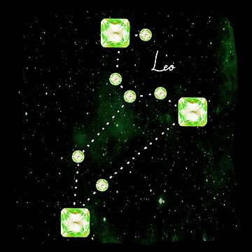 Leo Constellation in Peridot - Star Signs and Birth Stones by annaleebeer