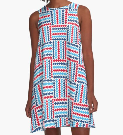 AFE Abstract Basket Weave A-Line Dress