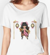 Kawaii China Doll Scene Women's Relaxed Fit T-Shirt