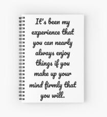Anne of Green Gables—Always Enjoy Things Quote Spiral Notebook
