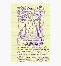 telephone game Photographic Print