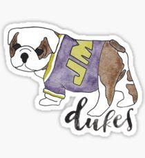 Watercolor Duke Dog Sticker