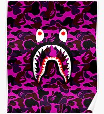 Bape Shark Design Illustration Posters
