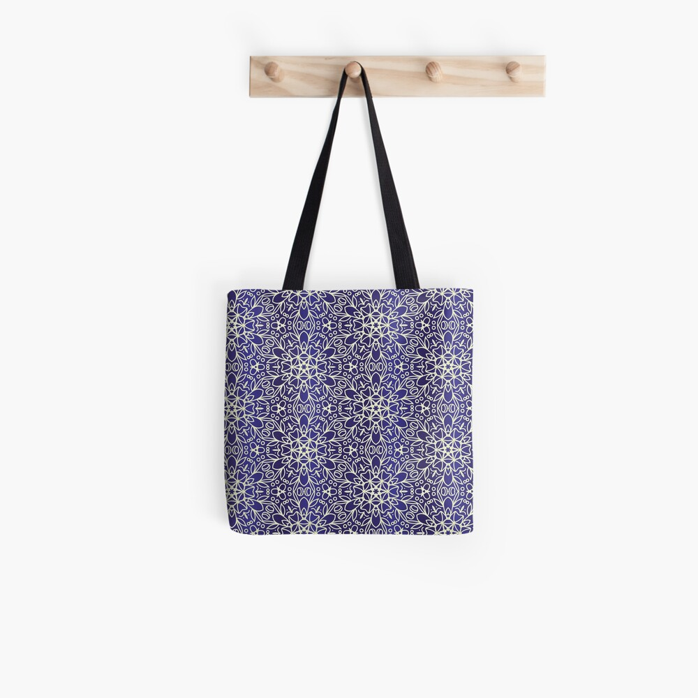 Midnight Flowers Tote Bag
