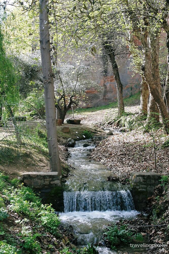 wodland stream by travelingpixel