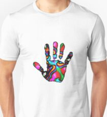 Psychedelic Hand Print 2 Unisex T-Shirt