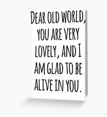 Anne of Green Gables—Dear Old World Greeting Card