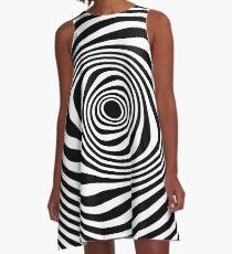 Black White Twist  A-Line Dress