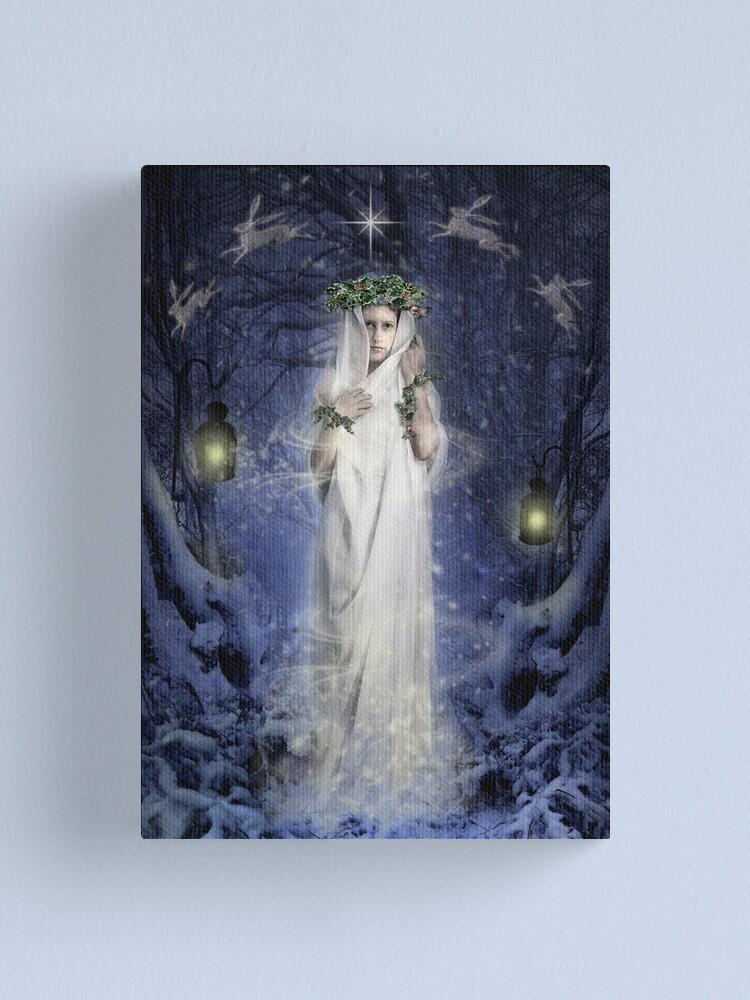 Alternate view of Yule Goddess Canvas Print