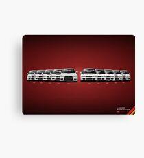 History - Mitsubishi Lancer Evolution - White Canvas Print