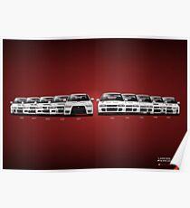 History - Mitsubishi Lancer Evolution - White Poster