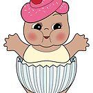 Chubby Cupcake Kewpie by Natalie Perkins