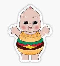 Chubby Burger Kewpie Sticker