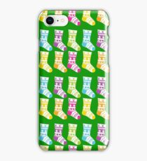 Rainbow Colored Christmas Stockings iPhone Case/Skin