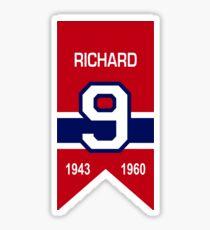 Maurice Richard - retired jersey #9 Sticker
