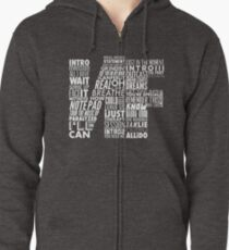 NF - Word Collaboration Design  Zipped Hoodie