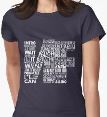 NF - Word Collaboration Design  Women's Fitted T-Shirt
