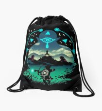 zelda breath of the wild Drawstring Bag