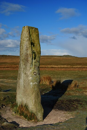 Standing Stone, Giants Basin, Dartmoor National Park by DonDavisUK