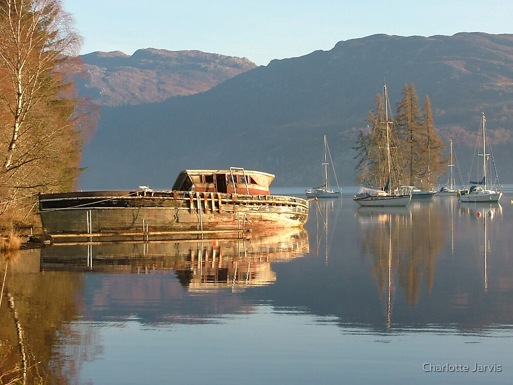 Boat on Loch Ness by Charlotte Jarvis