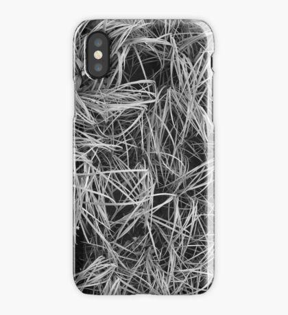 Grass B&W iPhone Case/Skin