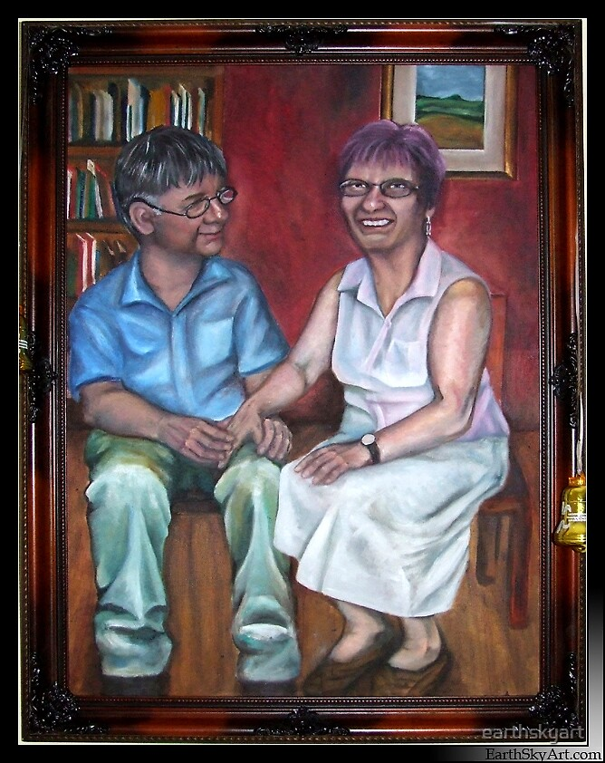 Malcolm and Ruth by earthskyart