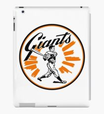 Giants Baseball Graphic from 1958 iPad Case/Skin