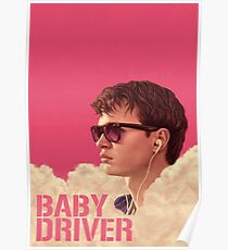 Ansel Elgort Baby Driver Poster