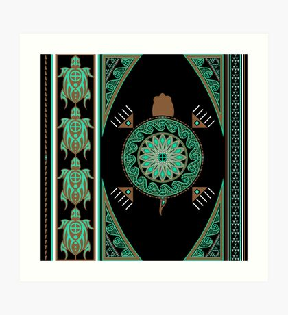 Green Turtle Art Print