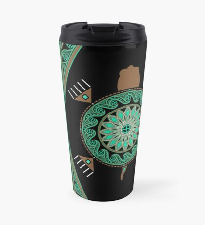 Green Turtle Travel Mug