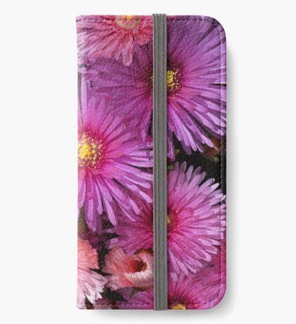 Beautiful Pink Pigface Flowers iPhone Wallet