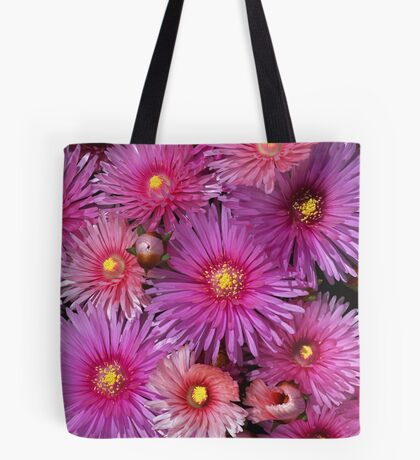 Beautiful Pink Pigface Flowers Tote Bag