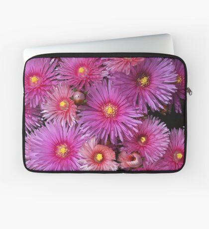 Beautiful Pink Pigface Flowers Laptop Sleeve