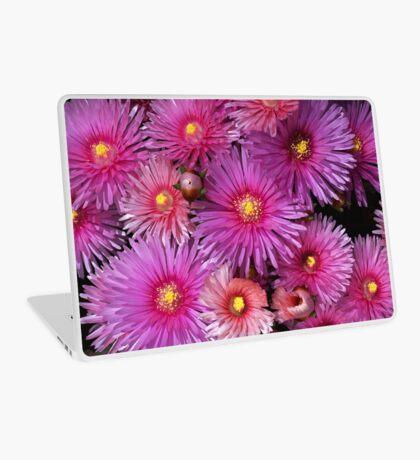 Beautiful Pink Pigface Flowers Laptop Skin