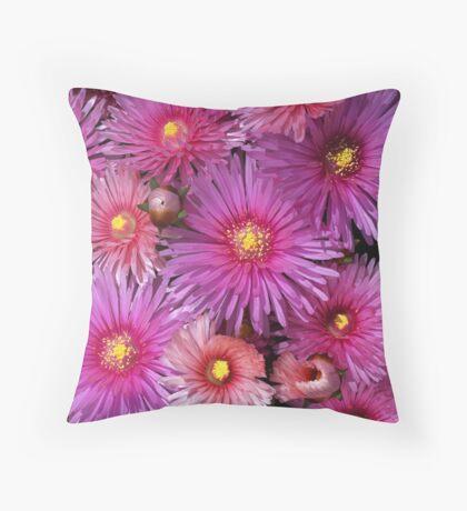 Beautiful Pink Pigface Flowers Floor Pillow