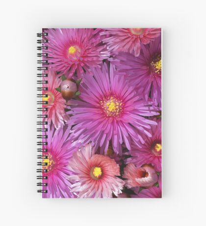Beautiful Pink Pigface Flowers Spiral Notebook