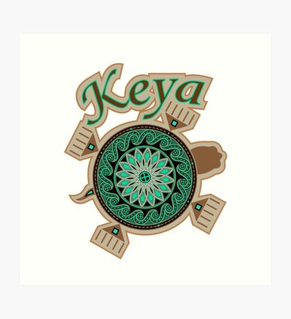 Green Turtle Keya Art Print