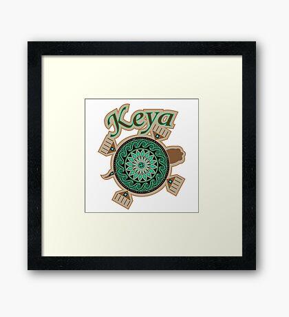 Green Turtle Keya Framed Print