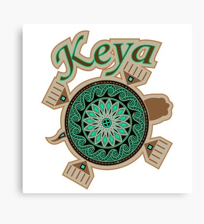 Green Turtle Keya Canvas Print