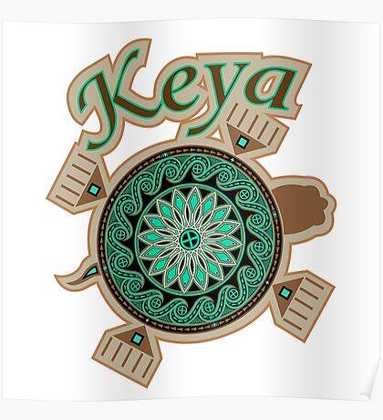 Green Turtle Keya Poster