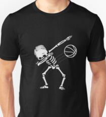 Dabbing Skeleton Basketball Halloween Gift T-Shirt