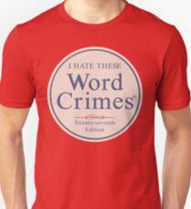 Word Crimes Slim Fit T-Shirt