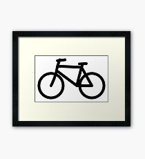 Bicycle Icon (Line Art) Framed Print