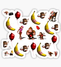 Donkey Kong Country Collage Sticker