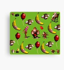 Donkey Kong Country Collage Canvas Print