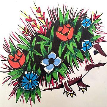 """""""Shy"""" A Floral hedgehog by rrandj"""