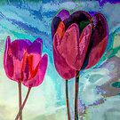 """TULIPS 3  (From """"Painted flowers"""" collection) by EvaMarIza"""