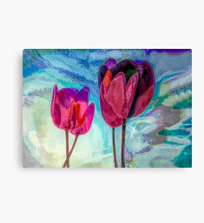 "TULIPS 3  (From ""Painted flowers"" collection) Canvas Print"