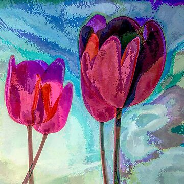 "TULIPS 3  (From ""Painted flowers"" collection) by EvaMarIza"